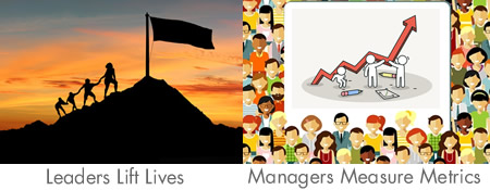 Leaders lift lives managers measure metrics